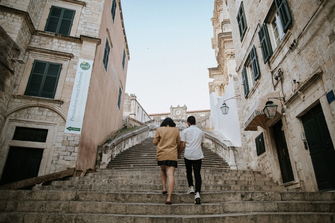 walk of shame stairs in Dubrovnik