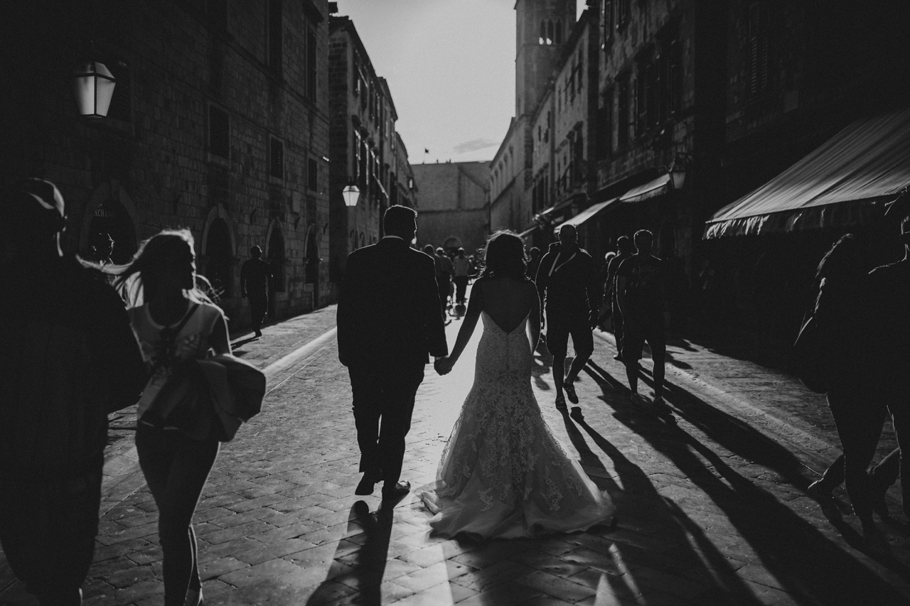 intimate elopement in Dubrovnik old town