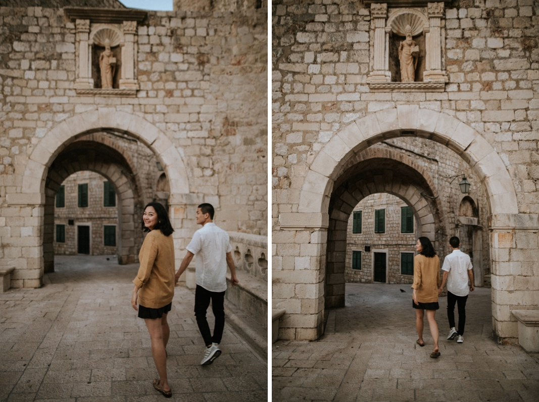 engagement session in Dubrovnik
