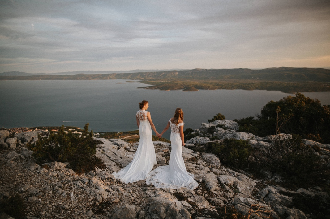 gay elopement in Croatia