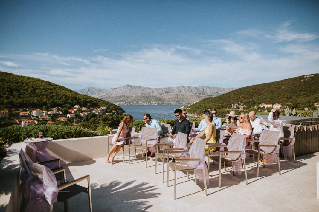Rooftop wedding ceremony Brac Croatia