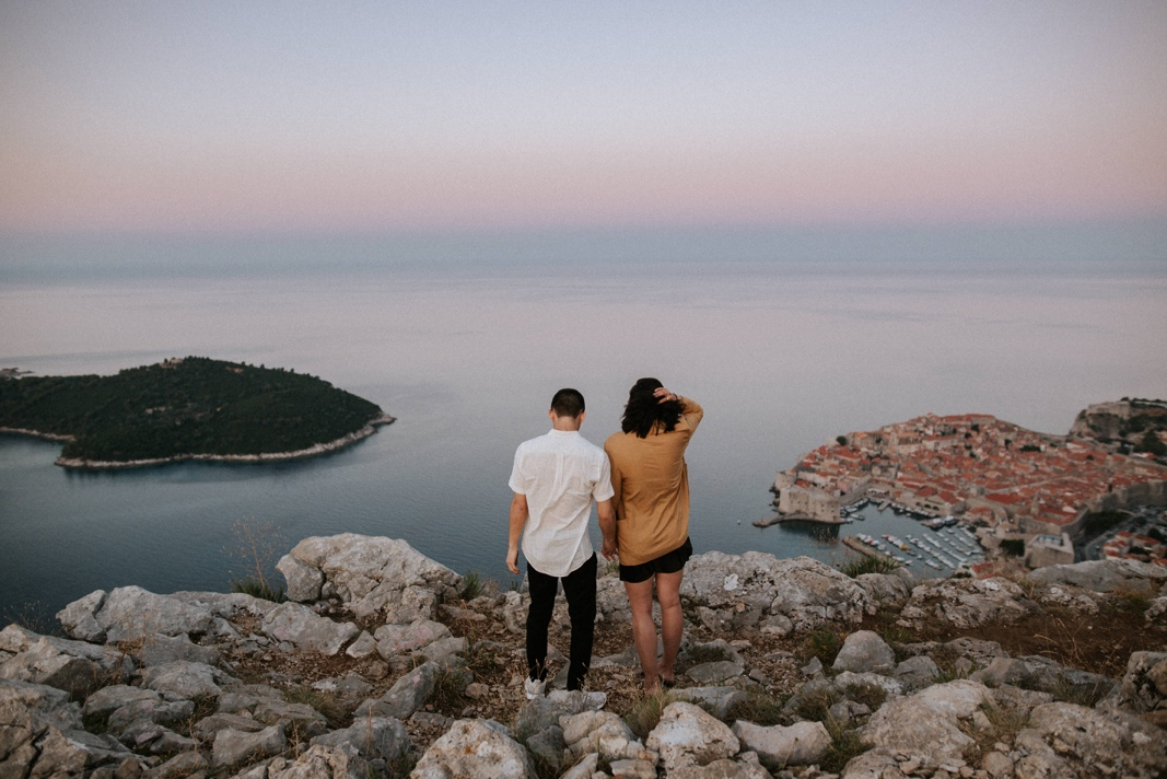 couple at Srd Mountain Dubrovnik